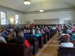 Volunteers gather questions for Congressman Elijah Cummings (1/31/2016)